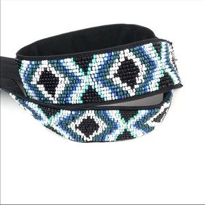 WHBM Beaded Glass Belt